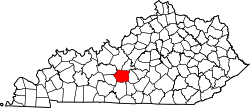 map of Kentucky highlighting Hart County
