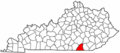 Map of Kentucky highlighting McCreary County.png