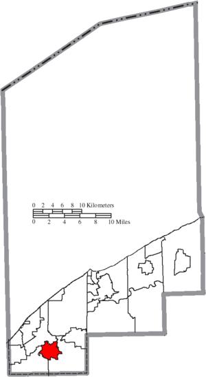 Waite Hill, Ohio - Image: Map of Lake County Ohio Highlighting Waite Hill Village