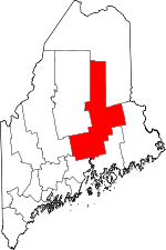 Map of Maine highlighting Penobscot County.svg