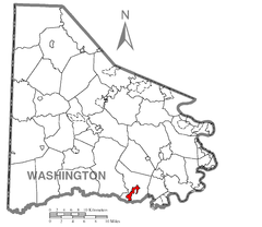 Map of Marianna, Washington County, Pennsylvania Highlighted.png