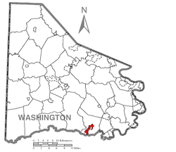 Location of Marianna in Washington County