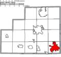 Map of Medina County Ohio Highlighting Wadsworth City.png