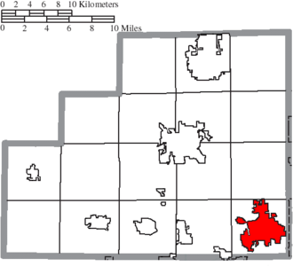 Wadsworth, Ohio - Image: Map of Medina County Ohio Highlighting Wadsworth City
