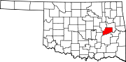 Map of Oklahoma highlighting McIntosh County.svg