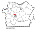 Map of Oliver, Fayette County, Pennsylvania Highlighted.png