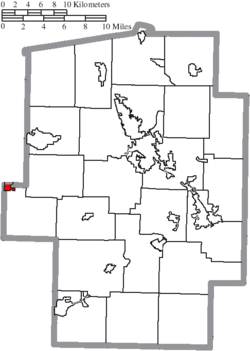 Location of Baltic in Tuscarawas County