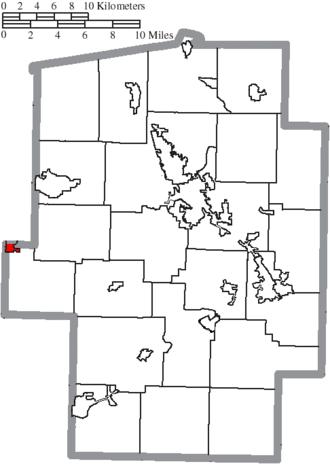 Baltic, Ohio - Image: Map of Tuscarawas County Ohio Highlighting Baltic Village