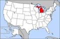 Map of USA highlighting Michigan.png