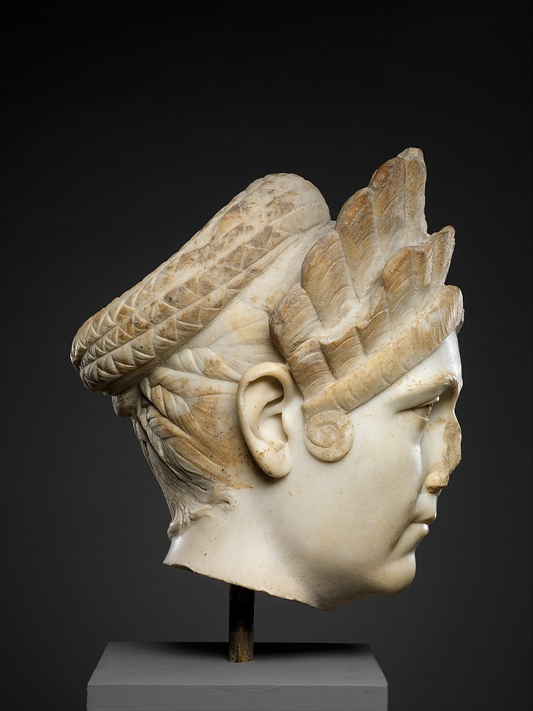 Marble portrait of Marciana, sister of the emperor Trajan, ca. A.D. 130–138, Metropolitan Museum, New York