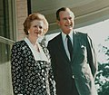 Margaret Thatcher poses with George H. W. Bush 1987.jpg