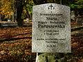 Maria Paruszewska tomb, Poznan, Cytadela.JPG