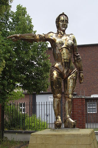 Babelsberg Studio - The 1927 film Metropolis was made at Babelsberg. (Photo shows the statue of the film figure Maria in the Filmpark Babelsberg.)