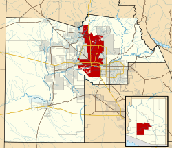 Maricopa County Incorporated and Planning areas Phoenix highlighted.svg