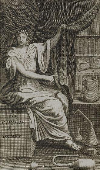 Marie Meurdrac - Frontispiece of La Chymie ... des Dames, 1687 edition