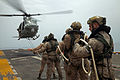 Marines with the MRF conduct special patrol insertion-extraction training from a UH-1Y Huey 150528-M-QZ288-079.jpg