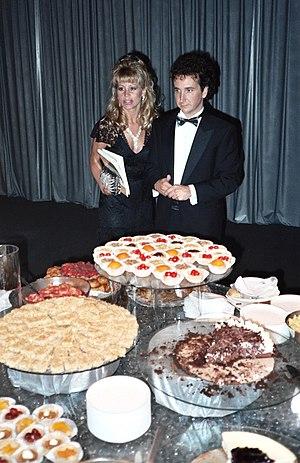 Mark Linn-Baker - Linn-Baker with Melanie Wilson at the 39th Primetime Emmy Awards buffet (1987)