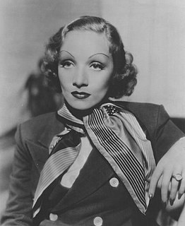 Marlene Dietrich German-American actress and singer