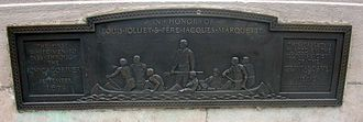 Louis Jolliet - Plaque commemorating Jolliet in Chicago.