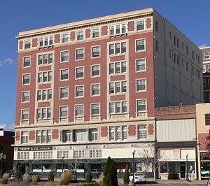 Martin Hotel (Sioux City, Iowa) - View from the southeast, across 4th Street