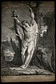 Martyrdom of Saint Sebastian. Etching by A.M. after J. Barry Wellcome V0033068.jpg