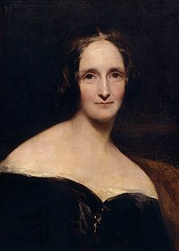 Potret Mary Shelley oleh Richard Rothwell (1840).