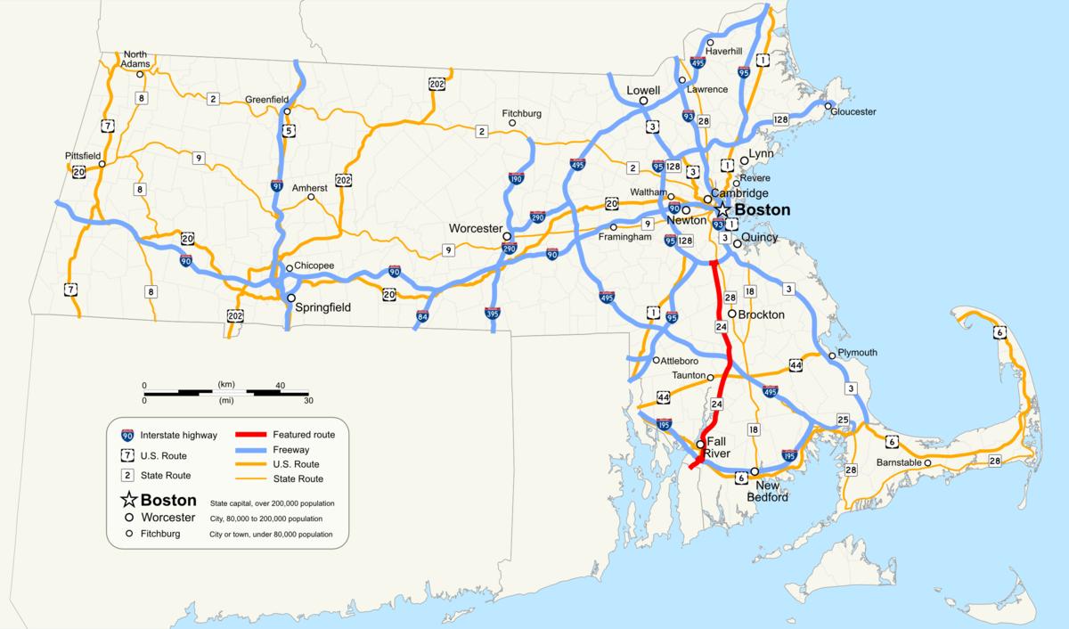 Massachusetts Route 24 - Wikipedia