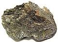 Massive sulfide with pyrrhotite-magnetite-chalcopyrite (copper ore) (Talnakh Cu-Ni Deposit, Permian-Triassic boundary, 251 Ma; Talnakh, Norilsk Mining District, Krasnoyarsk Territory, northern Siberia, Russia) (15212342845).jpg