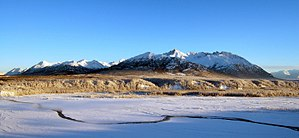A frosty winter afternoon with the Matanuska R...