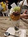 Matcha parfait at dessert parlour in Brisbane.jpg