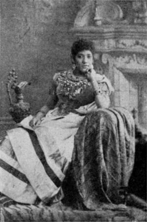 Marie Selika Williams - Madame Selika as photographed by Maud Cuney-Hare