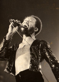 Maurice White in Munich, Germany in 1975}