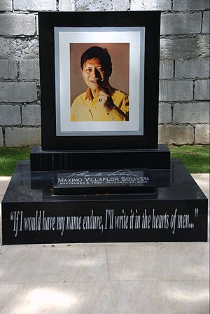 Max Soliven - The tomb of Max Soliven at the Libingan ng mga Bayani