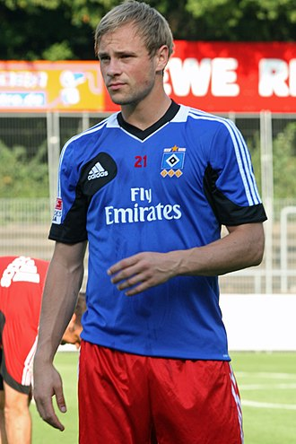 Maximilian Beister - Beister training during his time at Hamburger SV in 2013.