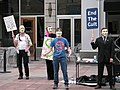 May 9 2009 Minneapolis protest against the organization of scientology 02.jpg