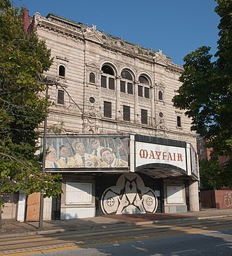 Market Center (Baltimore, Maryland) - Image: Mayfair Theater Market Center 08 11