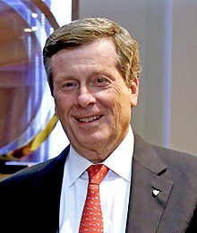 Mayor John Tory at the Invictus Games Opening Ceremony 2017 (37037578000) (cropped).jpg