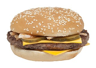 Quarter Pounder Hamburger sold by McDonalds