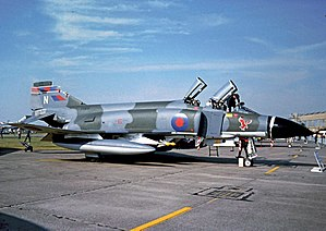 No. 23 Squadron RAF - 23 Squadron Phantom FGR.2 wearing the unit's Eagle symbol in 1977