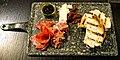 Meat platter starter at the White Hart Inn, Moreton, Essex, England.jpg