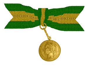 eRepublik Wiki  - Page 2 300px-Medaille_f%C3%BCr_Weibliches_Verdienst_Dachsen_Coburg_und_Gotha_1869