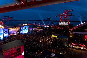 Melt! Festival - Main Stage and Bucket-wheel excavator at Melt! 2015