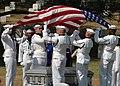 Members of the U.S. Navy Ceremonial Guard render honors (17455714350).jpg