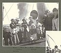 Members of the expedition taking part in a lifeboat drill aboard the GEORGE W ELDER, June 1899 (HARRIMAN 92).jpg