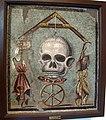 Memento Mori con teschio (vita) appeso a un filo tra la ruota della fortuna, 109982, 01.JPG