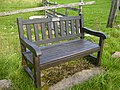 Memorial seat by track junction - geograph.org.uk - 226863.jpg