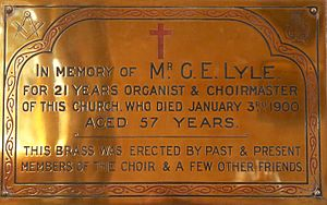 Sherborne Abbey - Memorial to George Edwin Lyle
