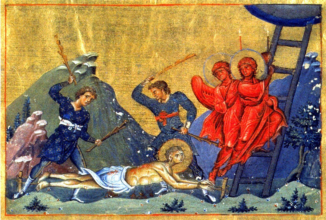 Den hellige Ananias av Persia fra Basilios IIs menologium