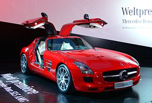 English: Mercedes SLS AMG, presented at the In...