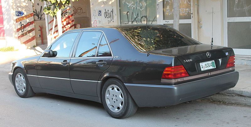 File:Mercedes S600 V12, Greek export plate.jpg